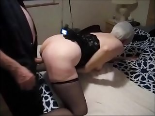 Grandma Fucked by Bull While Hubby Recording