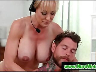 Brandi Love &_ Dean Van Damme  Milf masseuse with huge boobs gives nuru massage