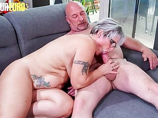 AMATEUR EURO  Horny German Granny Brigitte T. Fucks With Plumber