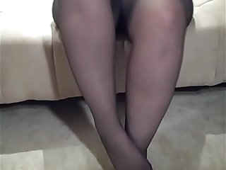 Sexy Lexi Little Feet in Black Pantyhose
