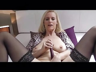 Breathtaking aged in nylons and heels masturbates