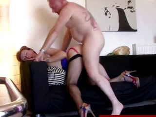 British mature in stockings gets fucked