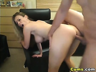 Busty Blond Wife Sucks and Rides HD