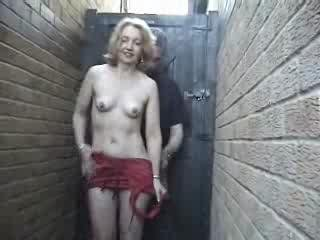 Home made  Mature woman in red in the allway