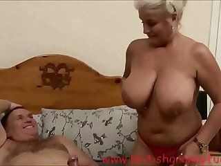 Robyn Ryder is getting boned in a nurse uniform on britishgrannyfuck.com